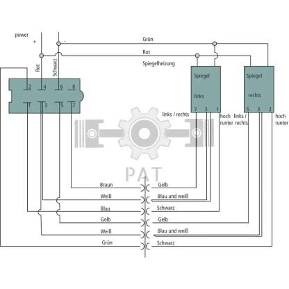 — 654999001 — 1 spiegel elektrisch verstelbaar, verwarmd, 400 x 210 mm, bovenste spiegel verstelbaar, 258 x 175 mm —