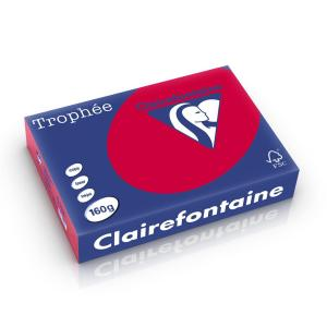 Clairefontaine Troph�e Intens A4 kersenrood 160 g 250 vel
