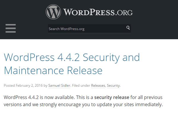 websideview - wordpress security update 4-4-2