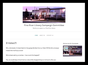 Pine River Library Vote Yess Campaign Committee Website