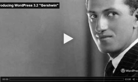 """WordPress 3.2 (""""Gershwin"""") – What's New"""