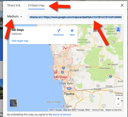 Get Embed a Google Map Code