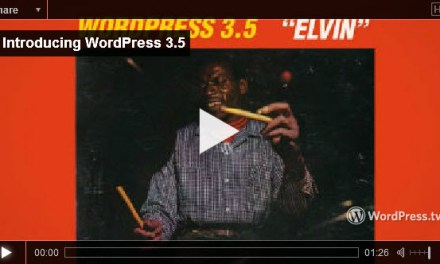 "WordPress 3.5 is Out – ""Elvin"""