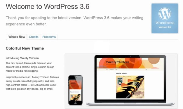 "What's New in WordPress 3.6 – ""Oscar"""