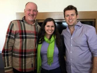 Christina Hills With Reid Tracy and Christian Mickelsen giving Book Website advise