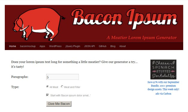 Add Meat and Veggies to Your Website!