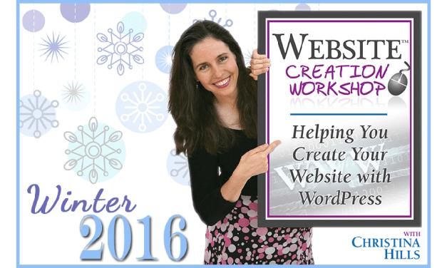 Registration Coming Soon for the Website Creation Workshop Winter 2016 Program