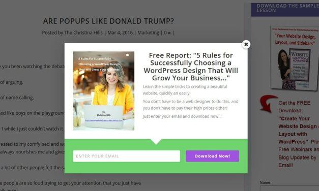 Are Popups Like Donald Trump?