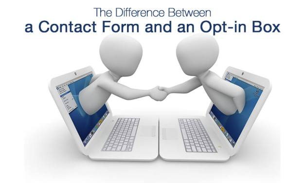 Difference Between Contact Forms & Opt-in Boxes