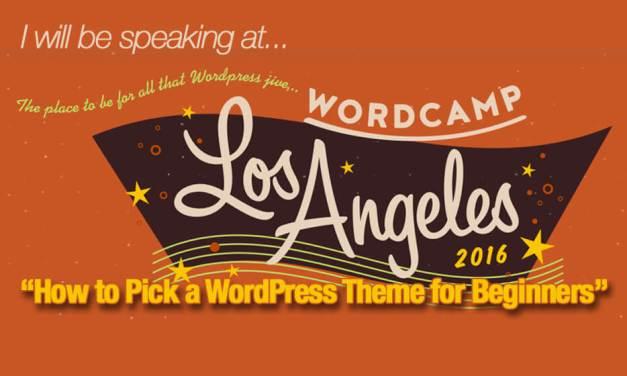 Speaking at WordCamp Los Angeles on WordPress Themes for Beginners