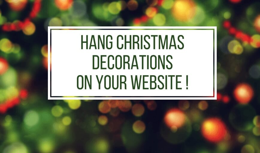 Hang Christmas Decorations on Your Website