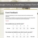 When to use Google Forms vs a WordPress Contact Form Plugin