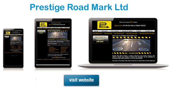 Website Design Belfast example of website design - prestige road mark ltd