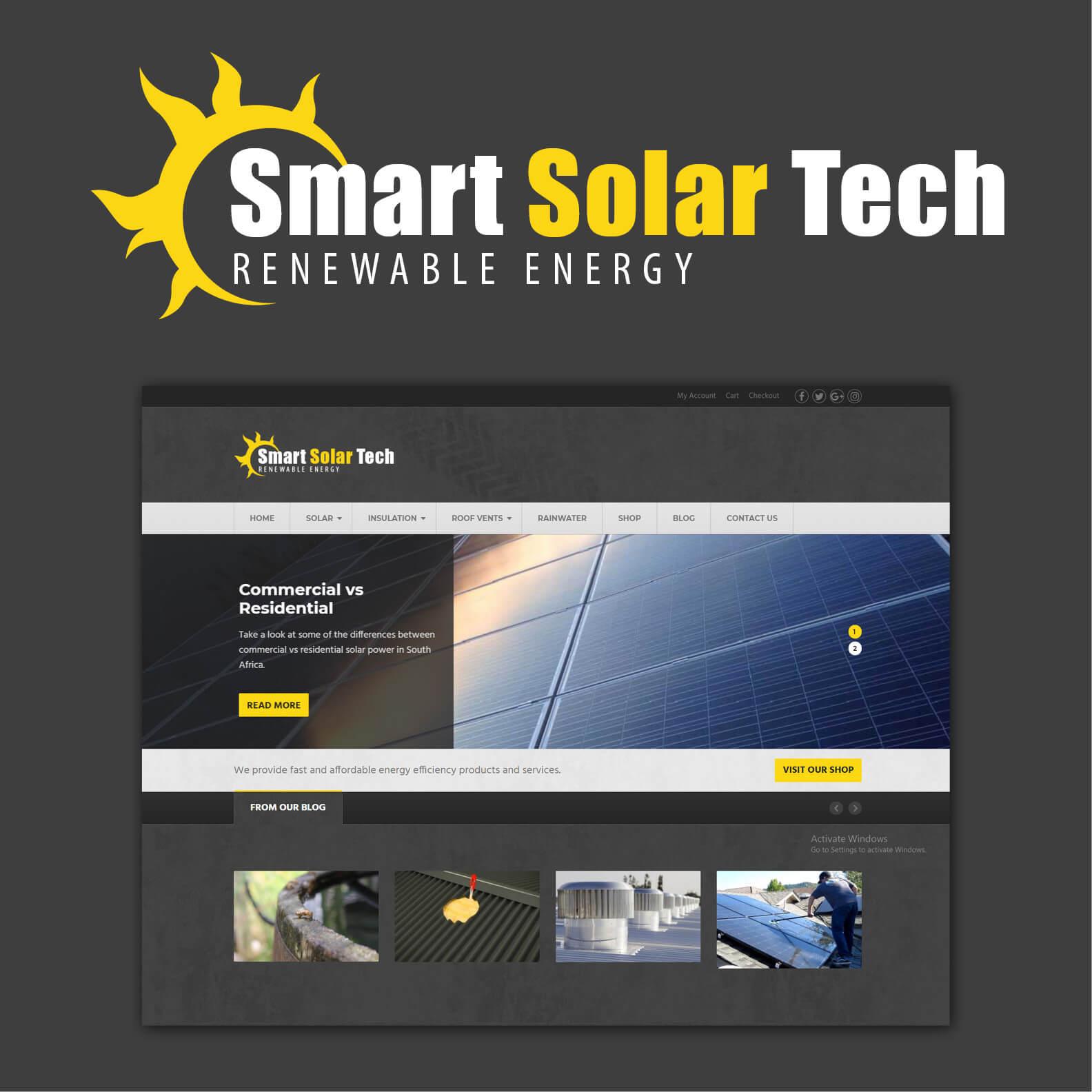 smart solar tech website design