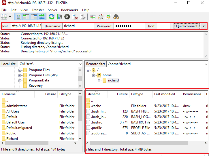 Manage Linux Server via SFTP and Notepad++ | Website for