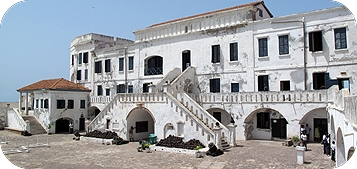 Cape Coast Castle front view