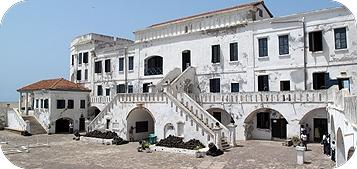 Cape Coast Castle front view