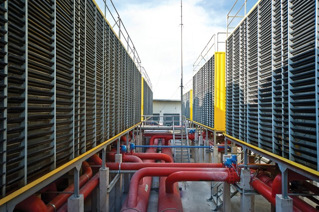 Figure 2. Photo of traditional data center cooling tower