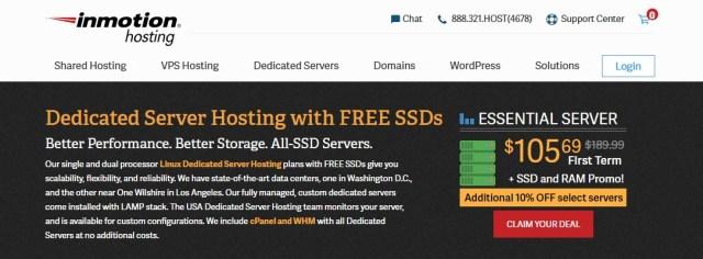 Inmotion Hosting Dedicated Server Hosting