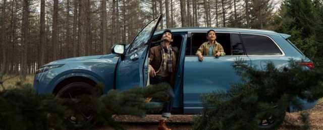 Image of a blue LiXiang SUV