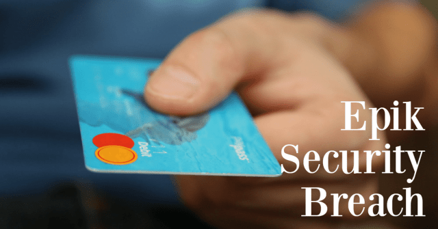 Picture of credit card in someone's hand with the word