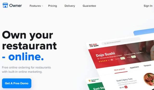 Screenshot of Owner.com
