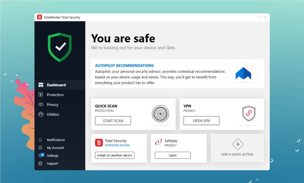 Bitdefender User Interface Screenshot