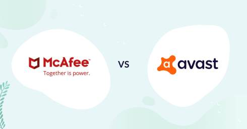mcafee logo vs avast logo antivirus comparison header for how to choose article
