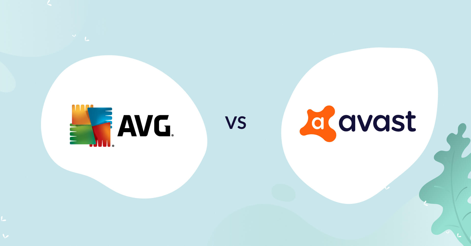 AVG logo vs avast logo antivirus comparison header for how to choose article