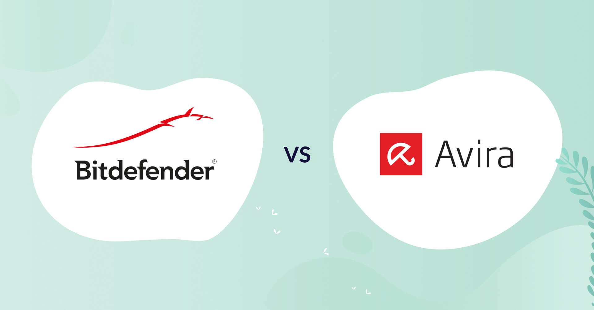 bitdefender logo vs avira logo antivirus comparison header for how to choose article