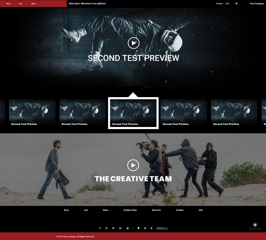 video company template