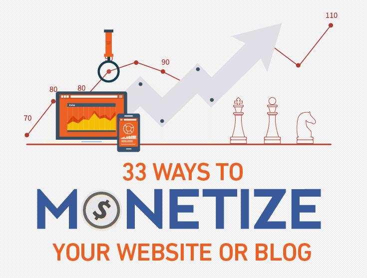 33 ways to monetize a website
