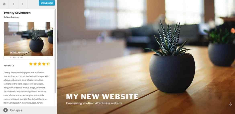 Site WordPress de base