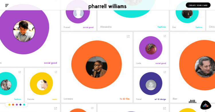 Pharell Williams frontpage