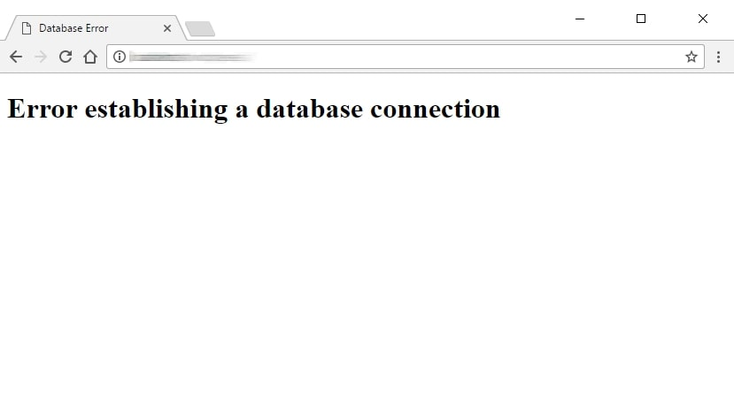 error establishing a database connection wordpress