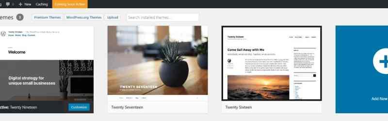 WordPress add a new theme