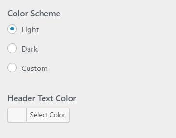 WordPress set colors