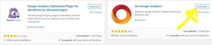 Google Analytics plugin WordPress