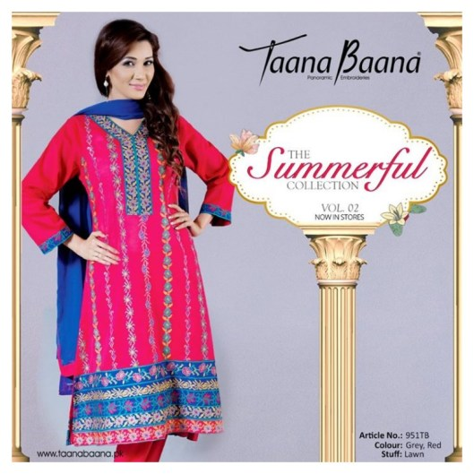 Taana Baana Summer Lawn Colorful Dresses 2015 for Women