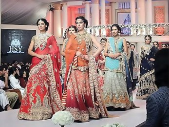 Karachi Mughal style with oriental style and colorful fashion show of wedding dresses