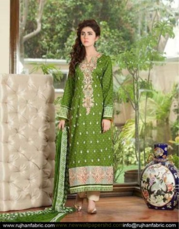 Rujhan Fabric Range Embroidered Eid Dresses 2016