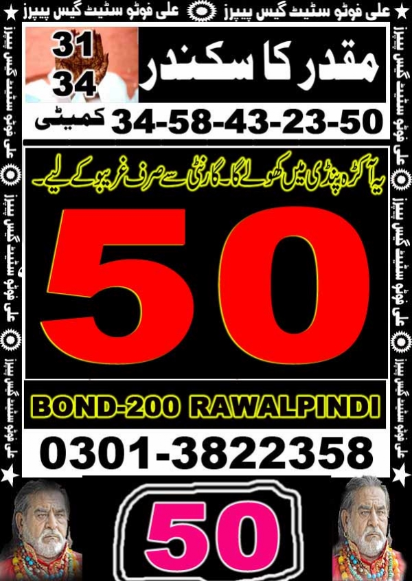 Prize Bond Rs 200 Guess Papers Irfan khan8-Guess-papaer