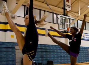 Webster University cheerleading team