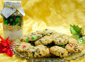 PHOTO BY BRITTANY RUESS / The Journal These M&M cookies are sure to be a hit at any holiday party. Or, give the dry mix as  an inexpensive and easy Christmas gift.