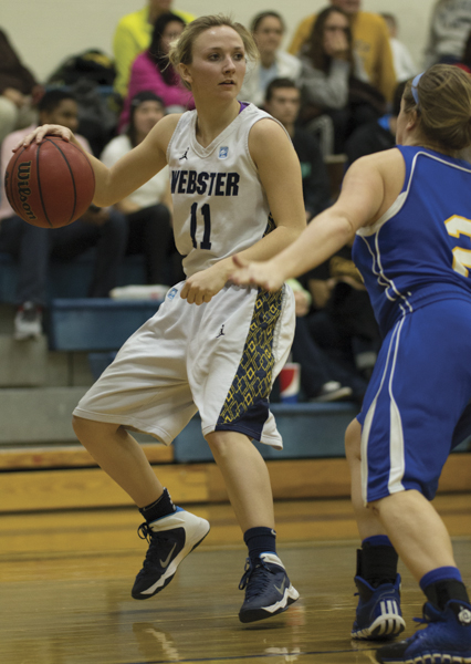 Guard Kaliann Rikard led the Webster University women's team in assists and steals in the 2013-14 season.