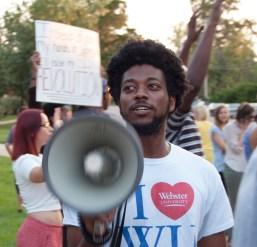 Webster University protestor