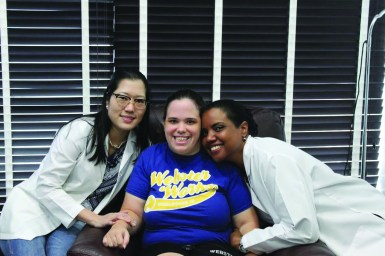 Staff physician Cindy Leu (left),  Ava Roesslein (middle) and nurse Tamara Mootoo (right) at the Stem Cell Institute in Panama City. / photo contribtued by Ava Roesslein