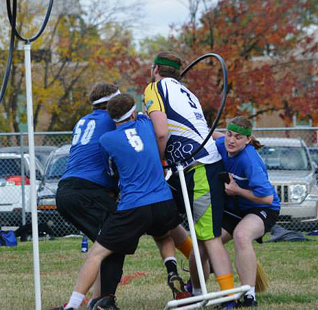 Photo contributed by Nick Apple Joey Dennis looks to score during the Webster Quidditch team's trip to Southern Illinois University on Oct. 18.