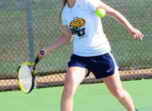 JORDAN PALMER / The Journal Freshman Monica Behrle recorded 15 wins in doubles play this season and added 20 wins in singles play.