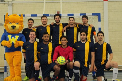"Leiden ""Team 1"" from left: Back Row: Shady Gaafar (defender), Hugo Duphorn (defender), Feno Fayad (defender), Jimmy Gamil (striker), Marco Boccuti (midfielder). From left: Front Row: Daniel Frankel (defender), Michael Morch (midfielder), Jose Weinberger (goalkeeper), Matheus Fronseca (midfielder), Tim Popov (midfielder). Photo: Brian Ruth"